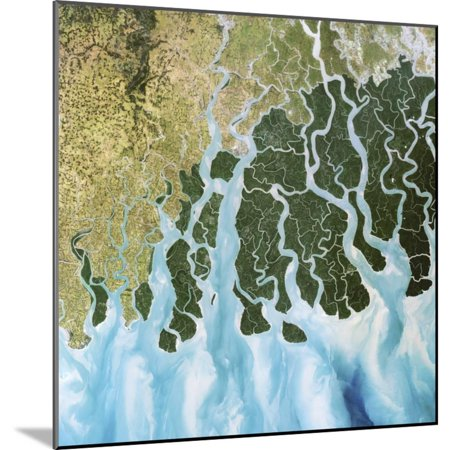 Ganges River Delta, India Wood Mounted Print Wall Art By PLANETOBSERVER - 5 Rivers Delta Halloween