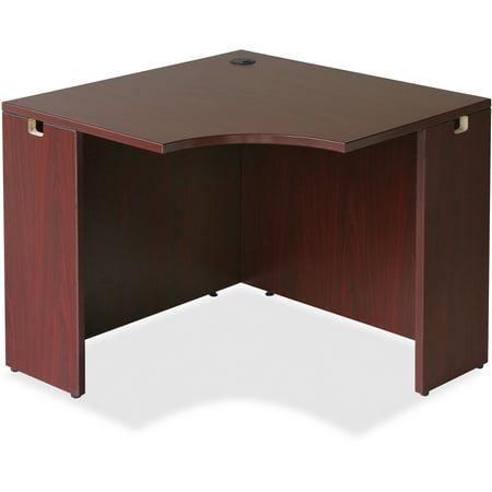 Lorell, LLR69872, Essentials Series Mahogany Corner Desk, 1 Each
