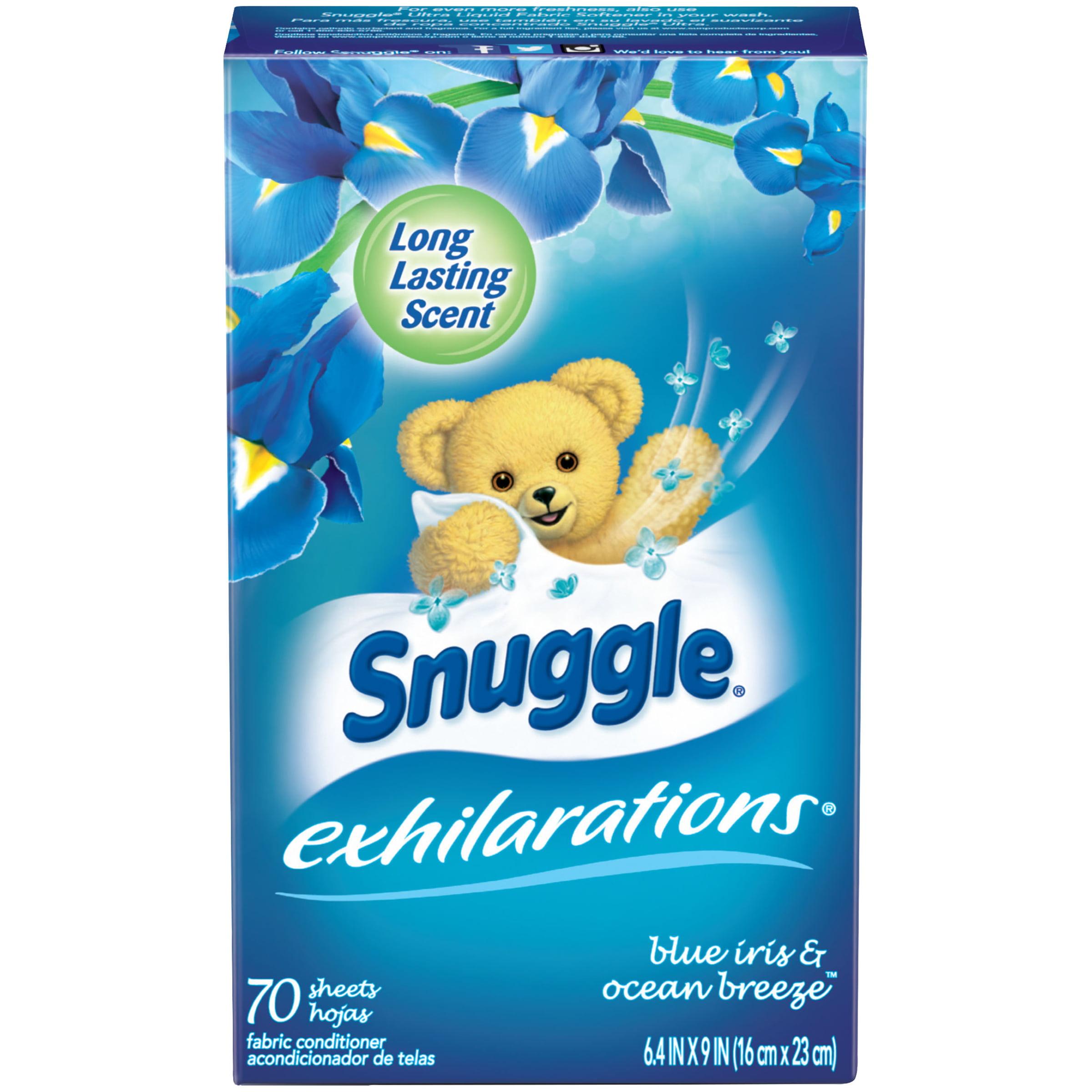 Snuggle Exhilarations Fabric Softener Sheets, Blue Iris & Ocean Breeze, 70 Count