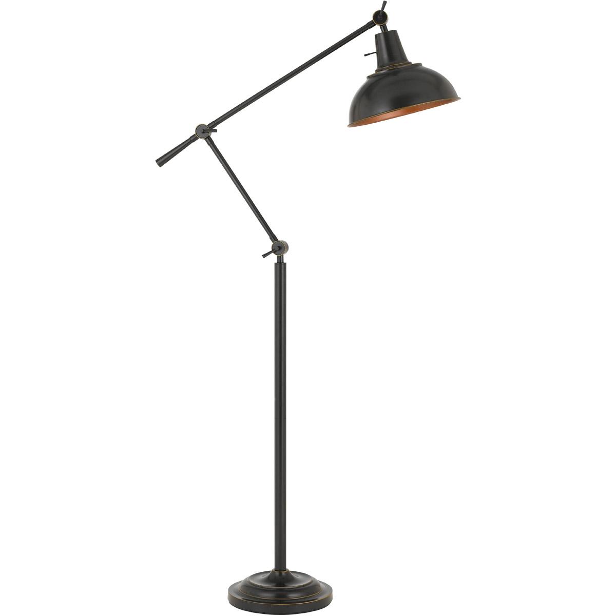 """Floor Lamps 1 Light Fixture With Dark Bronze Finish Metal Material E26 12"""" 100 Watts"""