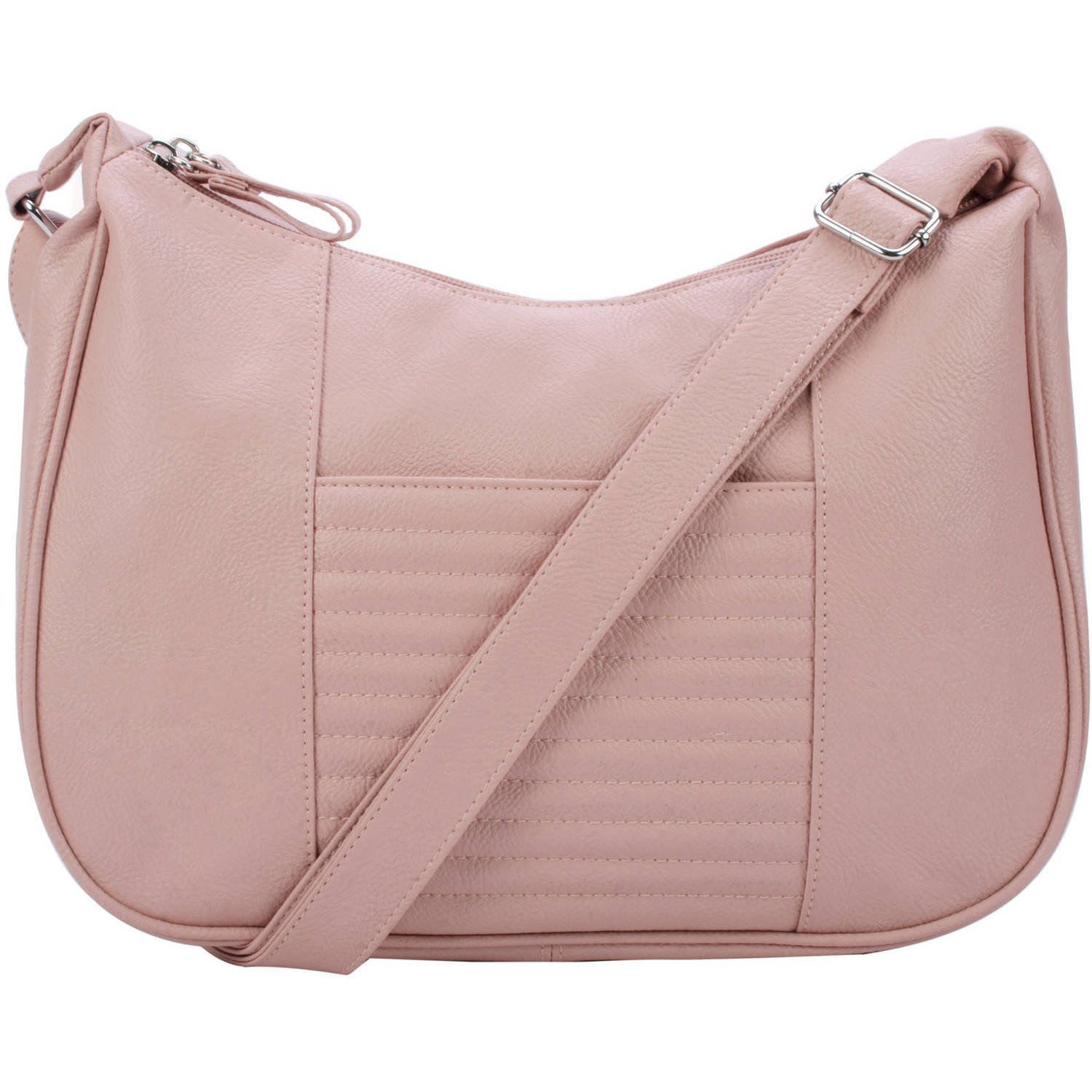 Women's Double Zip Hobo Handbag