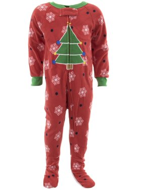 0f21c2f32d Product Image Mon Petit Boys Christmas Tree Red Footed Pajamas