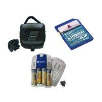 Casio Exilim QV-R40 Digital Camera Accessory Kit includes: SDC-27 Case, KSD2GB Memory Card, SB257 Charger