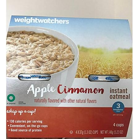 Weight Watchers Instant Oatmeal 3 Smartpoints 4 Cups  Apple Cinnamon