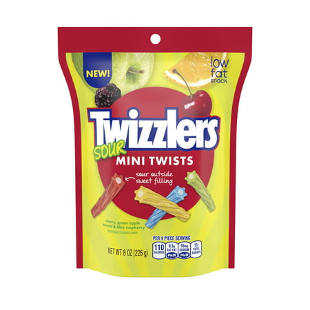 Twizzlers Twists Sour Mini Chewy Candy, 8 Oz. - Licorice Twizzlers