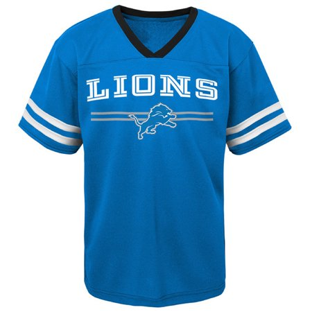 Lions Mesh - Toddler Blue Detroit Lions Mesh Jersey V-Neck T-Shirt