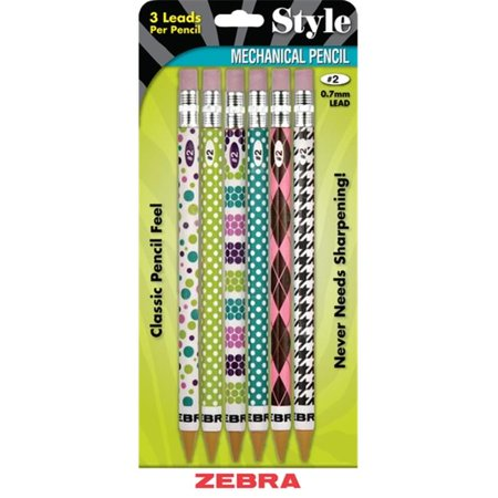 Zebra Pen Corp 50206 0.7 mm. No.2 Style Mechanical Pencil, Assorted Color