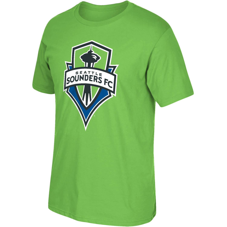 MLS Seattle Sounders Big Mens Oversized Logo Short Sleeve Tee, 2XL