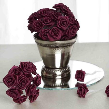Efavormart 144 PCS Boutonniere Rosebud Flower Applique DIY Brooch For Wedding Bouqets Pink Rhinestone Flower Pin