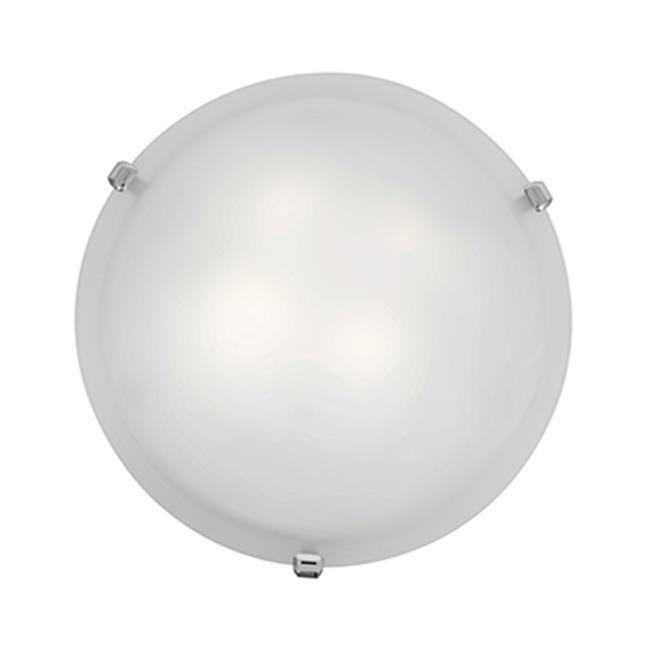 Access Lighting 23019LEDD-CH-WH Mona Dimmable Led Flush Light Chrome & White by Access Lighting