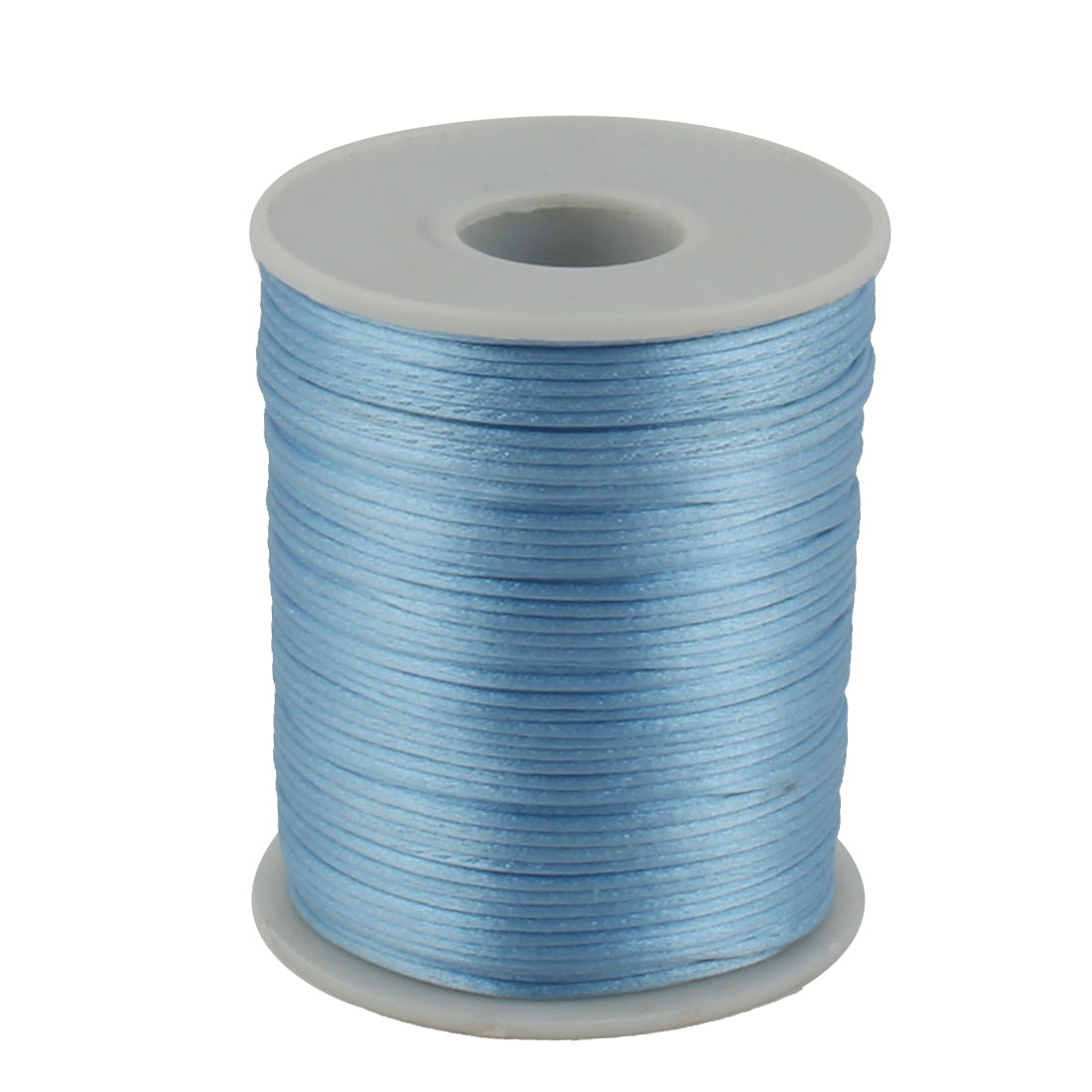 Nylon Handicraft DIY Braided Chinese Knot Cord String Rope Light Blue 109 Yards