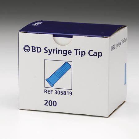 BD Syringe Tip Cap Blue Sterile 200/bx 305819