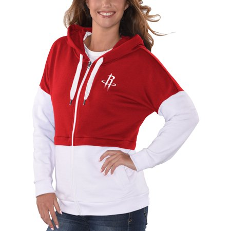 fb27433738d77 G-III 4Her by Carl Banks - Houston Rockets G-III 4Her by Carl Banks Women's  Game Changer French Terry Colorblock Full-Zip Hoodie - Red/White -  Walmart.com