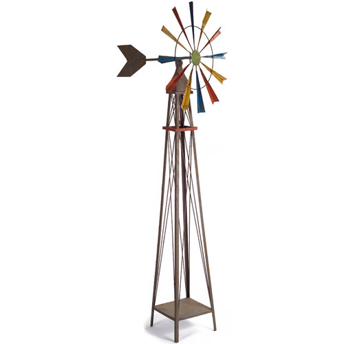 Melrose International Rustic Farm Windmill by