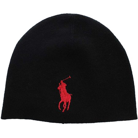 Ralph Lauren Polo Men's Unisex Big Pony Merino Wool Beanie Red