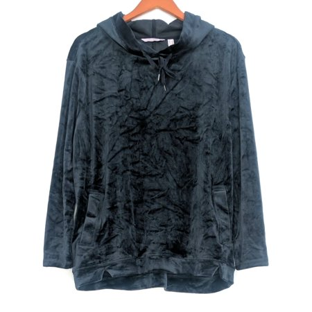 Anybody Women's Sz S Loungewear Velour Sweatshirt Navy Blue