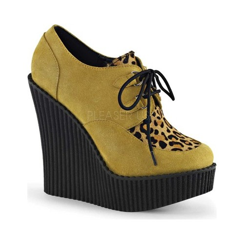 Women's Demonia Creeper 304 Wedge Oxford by PleaserUSA