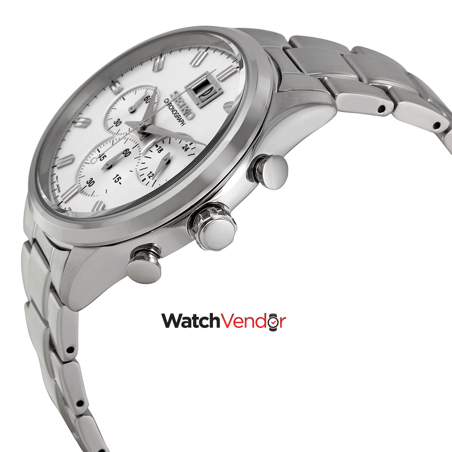 Seiko Chronograph Silver Dial Stainless Steel Men's Watch SPC079 - image 1 of 4