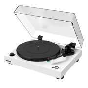 Fluance RT81 Elite High Fidelity Vinyl Turntable Record Player with Audio Technica AT95E Cartridge, Belt Drive, Built-in Preamp, Adjustable Counterweight, Solid Wood Plinth - White