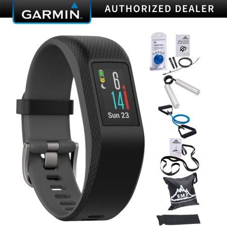Tacker Kit - Garmin Vivosport Smart Activity Tracker + Built-In GPS (Slate, S/M) 010-01789-10 + 7-Piece Fitness Kit