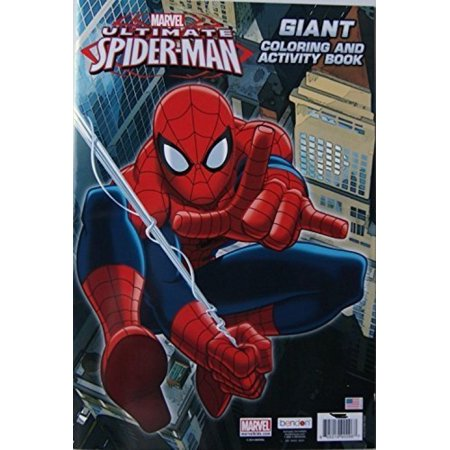 Spider-man Giant Coloring and Activity - Spiderman Coloring Book
