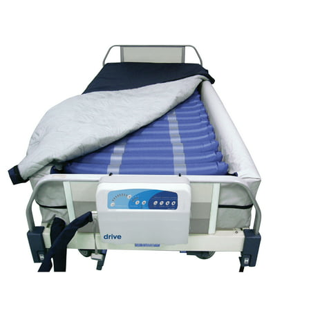 Drive Medical Med Aire Plus Defined Perimeter Low Air Loss Mattress Replacement System, with Low Pressure Alarm, 8