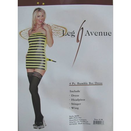 Leg Avenue Womens 'Bumble Bee Dress' Halloween Costume](Toddler Halloween Costumes Bumble Bee)