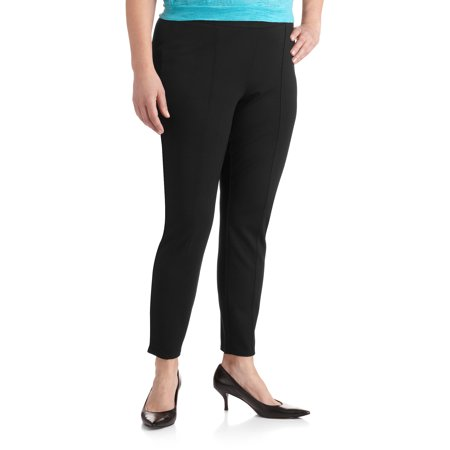 6fa6e9407af600 Faded Glory - Faded Glory Women's Plus-Size Pintuck Ponte Legging ...