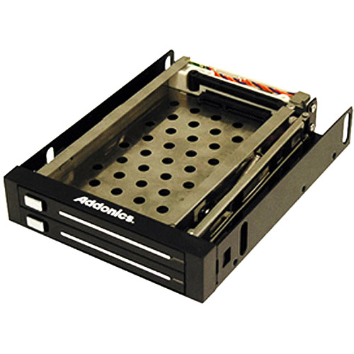 "Addonics AE25SNAP2SA Snap-In Double 2.5"" Drive Mobile Rack"