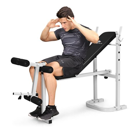 olympic folding weight bench incline lift workout leg