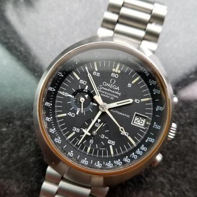 Omega Speedmaster Professional Chrono Mark III Mens 1970s Auto Swiss Watch LV297