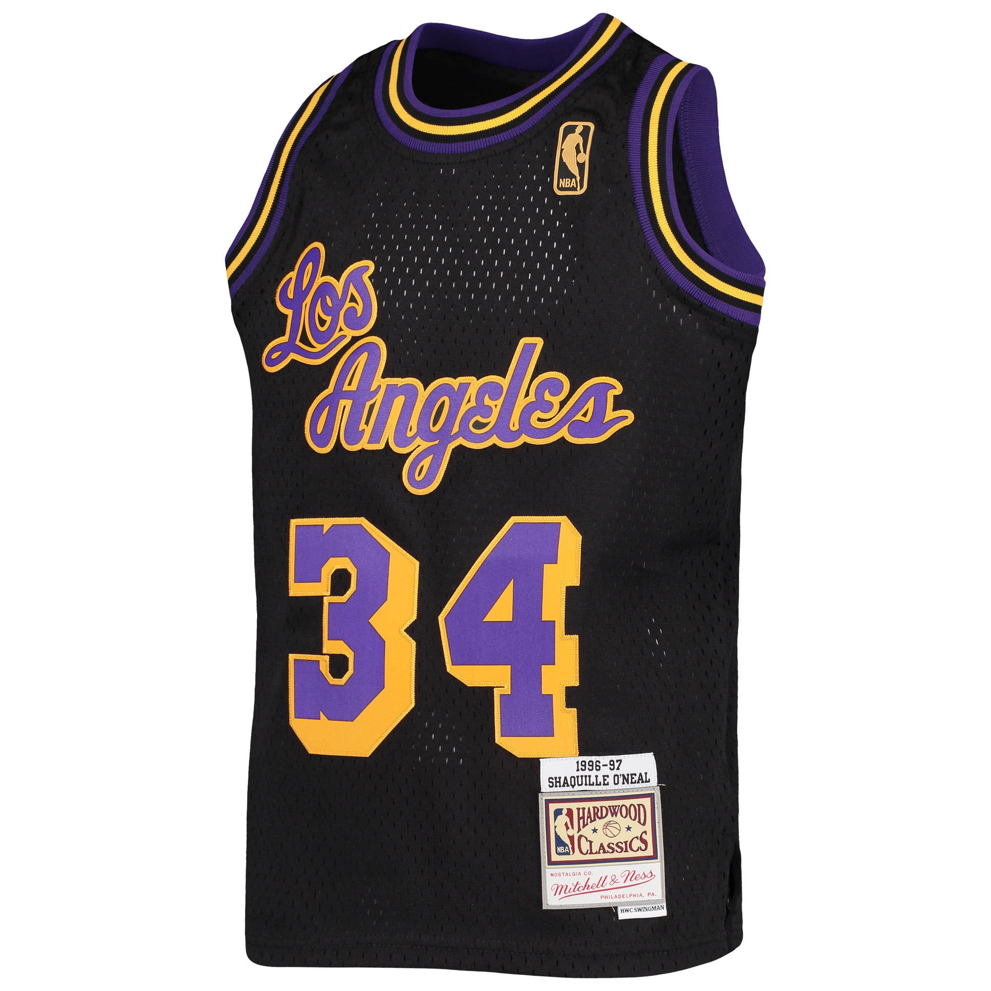 Shaquille O'Neal Los Angeles Lakers Mitchell & Ness Youth 1996-97 ...