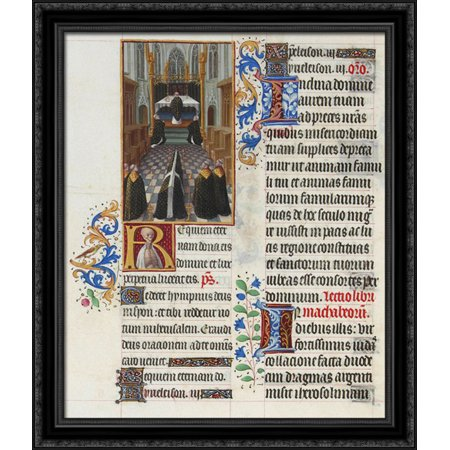 A Funeral Service 28X34 Large Black Ornate Wood Framed Canvas Art By Limbourg Brothers