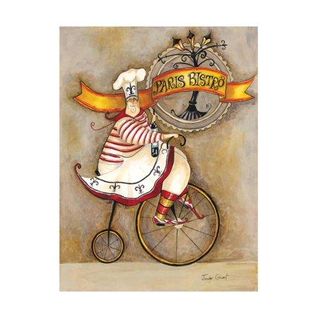 Paris Bistro I Print Wall Art By Jennifer (Bistro Decor)