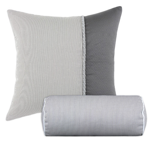 Brite Ideas Living Oxford 2 Piece Hyannis Twist Bolster and Throw Pillow Set (Set of 2)