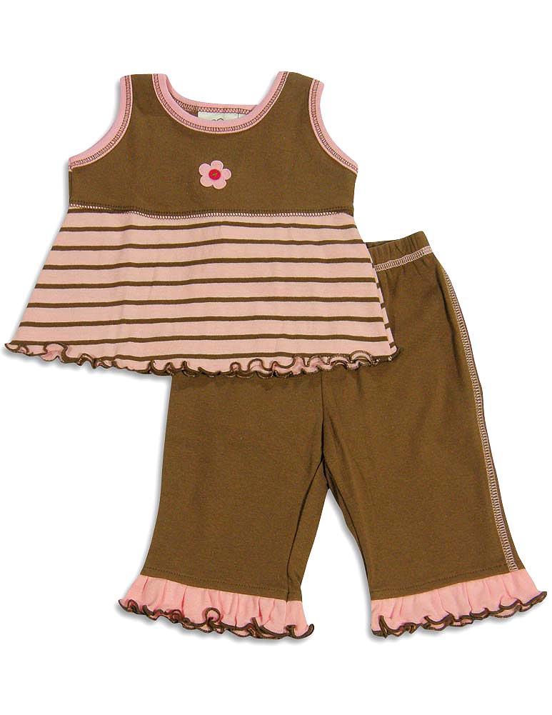 Cloud Mine - Baby Girls Pant Set Pink Bubbles / 6 Months