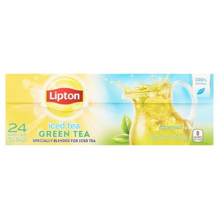 Lipton Thé vert famille taille Sacs Iced Tea, 24 ct