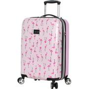 Betsey Johnson 20'' Flamingo Strut Spinner Luggage Luggage 20 Inches Pink/white