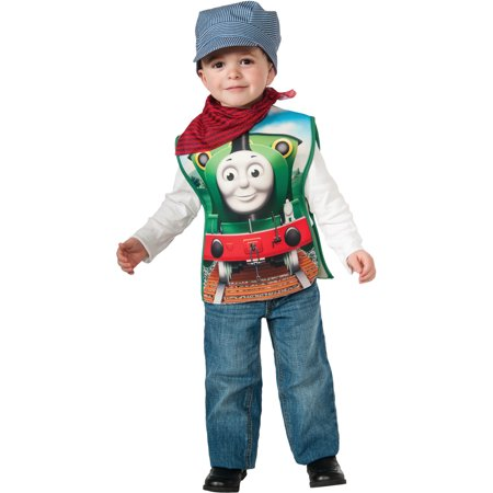 Child's Boys Thomas The Tank Engine Engineer Conductor Percy Costume](Thomas The Engine Costume)