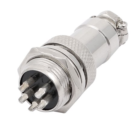 AC 660V 20A 5 Terminals Male Aviation Socket Connector Joint Adapter - image 2 de 3