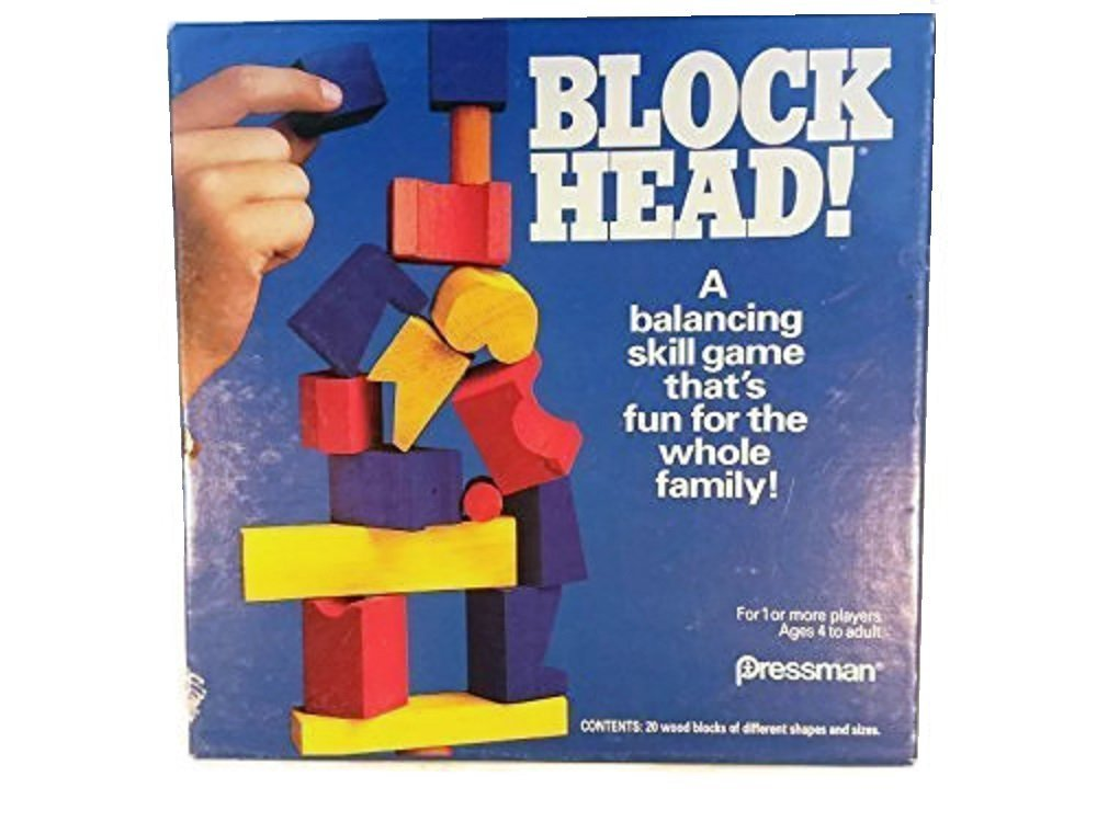 1992 Block Head Blockhead Game Pressman, 1992 Block Head Blockhead Game by Pressman. By Pressman Toy by