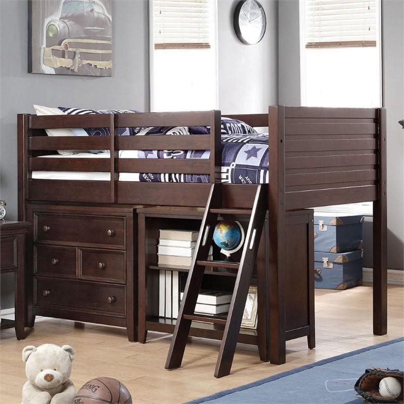 ACME Furniture Lacey Twin Loft Bed in Espresso