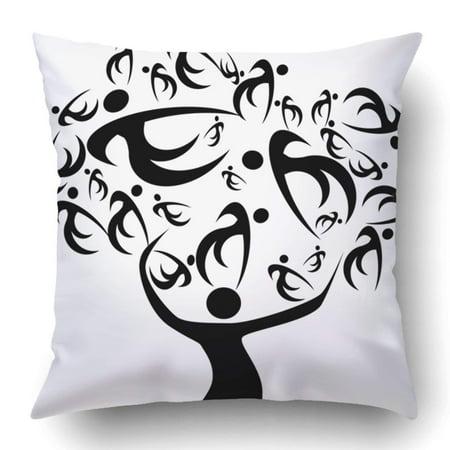 ARTJIA Family Tree Ancestors and Decescents History of Relatives Generation Origins Pedigree Chart Pillowcase 18x18 inch