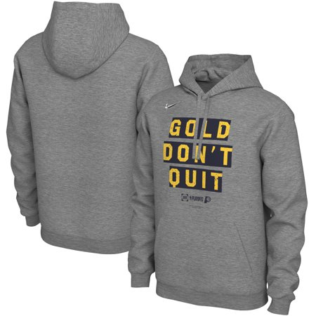 Indiana Pacers Nike 2019 NBA Playoffs Bound Team Mantra Pullover Hoodie - Heather (Adidas Indiana Pacers Sweatshirt)