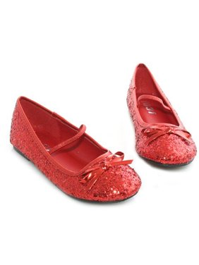 Child's Red Glitter Ballet Slipper