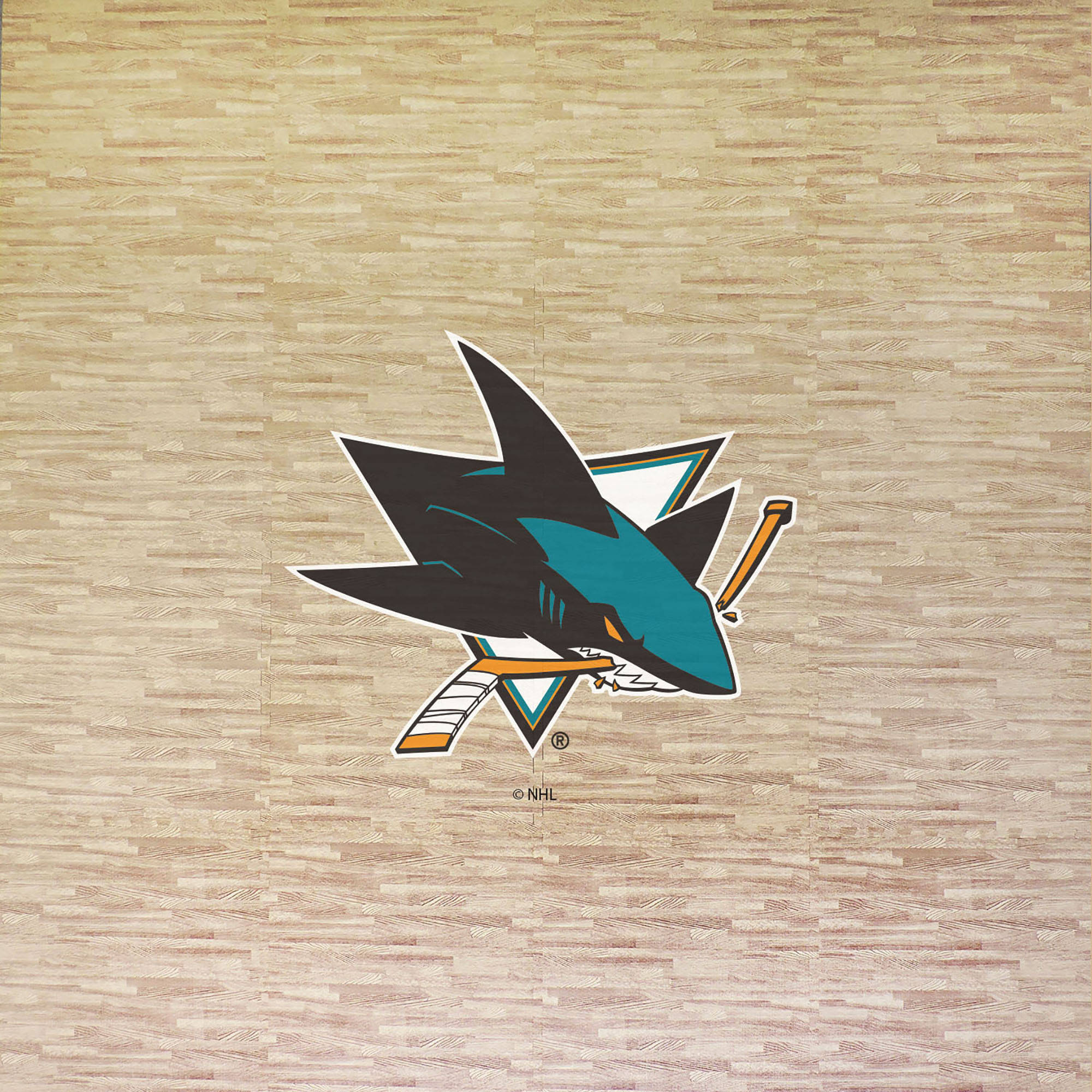 NHL San Jose Sharks Portable Foam Puzzle Tailgate Floor Mat by Coopersburg Sports