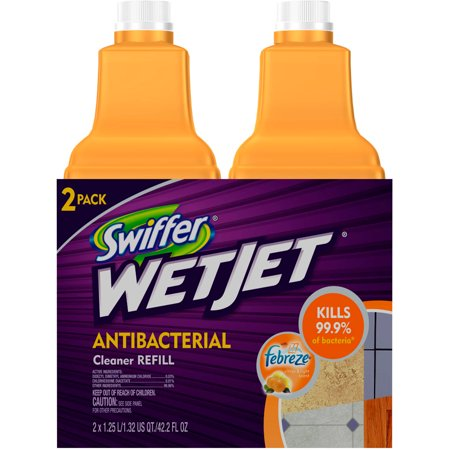 Swiffer Wetjet Antibacterial Floor Cleaner 2 5 L 2pk