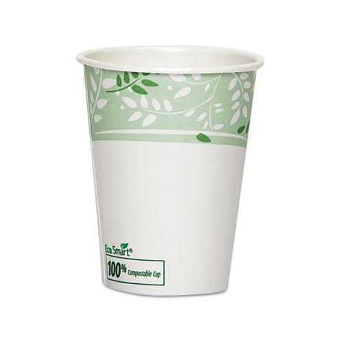 Dixie Ecosmart Hot Cups, Pla Lined Paper, Viridian, 8 Oz DIX2338PLA