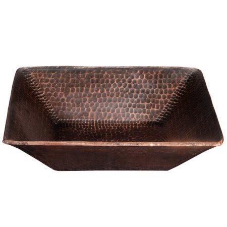 Premier Copper Products PVSQ14DB Oil Rubbed Bronze 14 Square Copper V