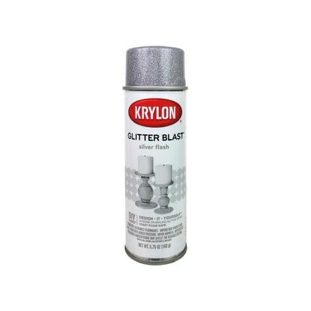 Krylon Glitter Blast Silver Flash Paint, 5.75 Oz.